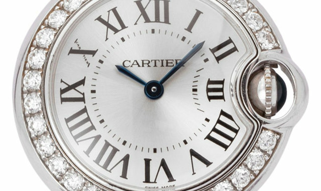 Cartier Ballon Bleu WE900351, Roman Numerals, 2008, Very Good, Case material White Gold