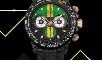 "Rolex DiW [NEW] NTPT Carbon Daytona ""INTERLAGOS"" (Retail: US$56,500)"