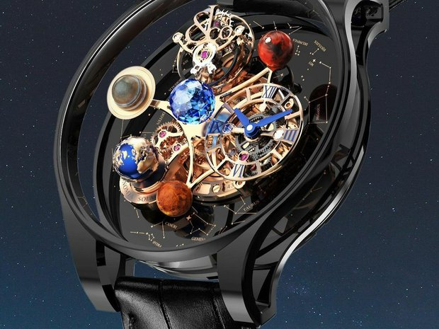 Jacob & Co. 捷克豹 [NEW] Astronomia Solar Planets Black Gold... (11201566)