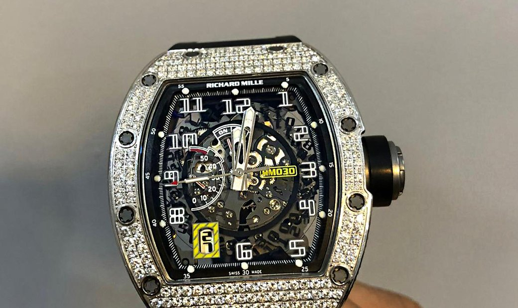 Richard Mille [2016 MINT] RM 030 Full Set Diamonds Watch