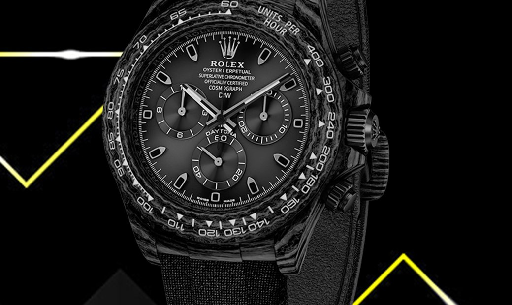 "Rolex DiW Cosmograph NTPT Carbon Daytona ""ALL BLACK"" (Retail:US$49,500)"