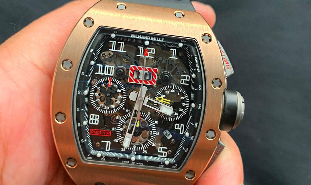 Richard Mille [2012 MINT] RM 011 Rose Gold Automatic Watch