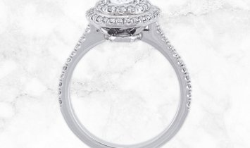 Platinum Double Vintage Oval Cut Diamond Ring