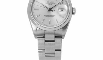Rolex Oyster Perpetual Date 15200, Baton, 1990, Good, Case material Steel, Bracelet mat
