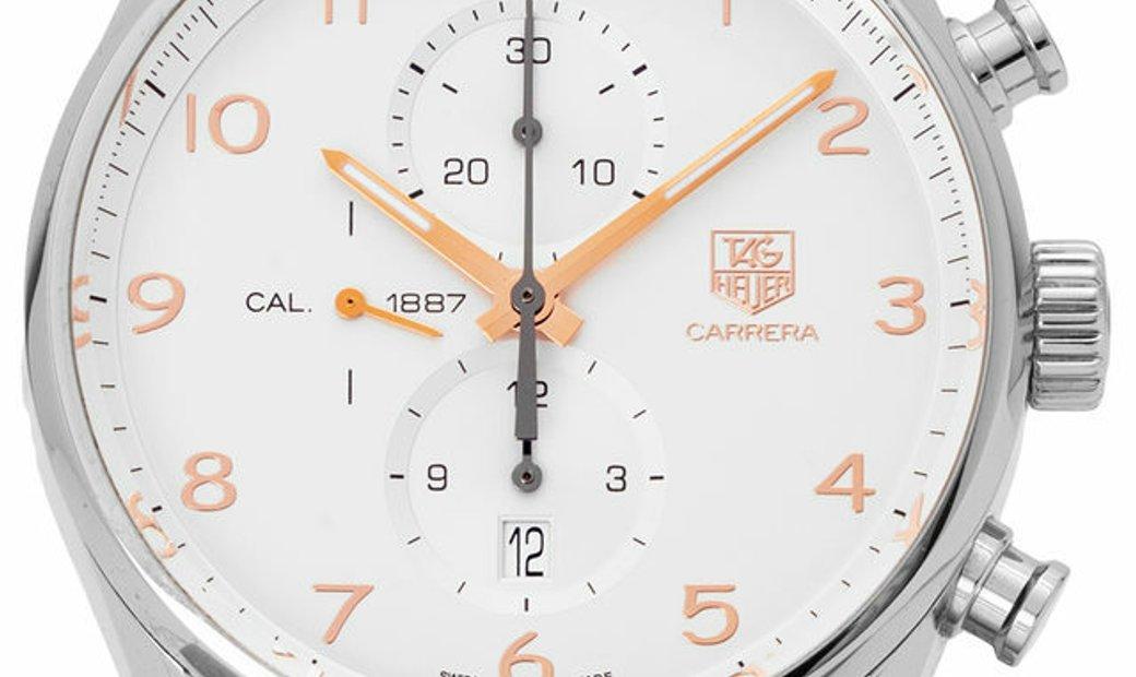 TAG Heuer Carrera Chronograph CAR2012.BA0796, Arabic Numerals, 2016, Very Good, Case ma