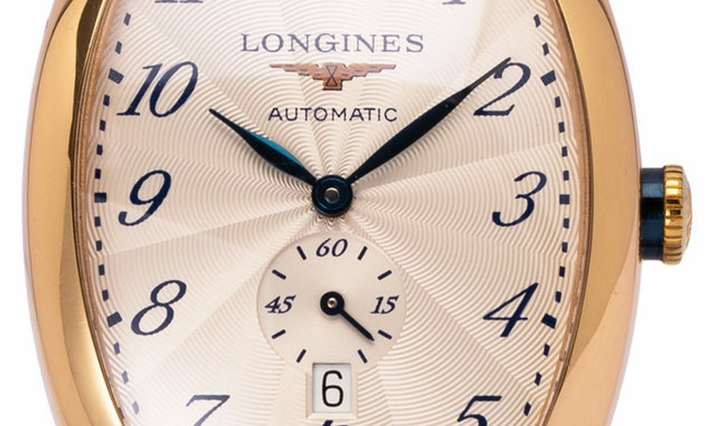 Longines Evidenza L2.642.8.73.4, Arabic Numerals, 2006, Very Good, Case material Rose G