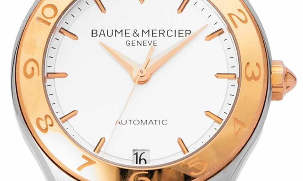 Baume et Mercier Linea M0A10073, Baton, 2016, Very Good, Case material Steel, Bracelet