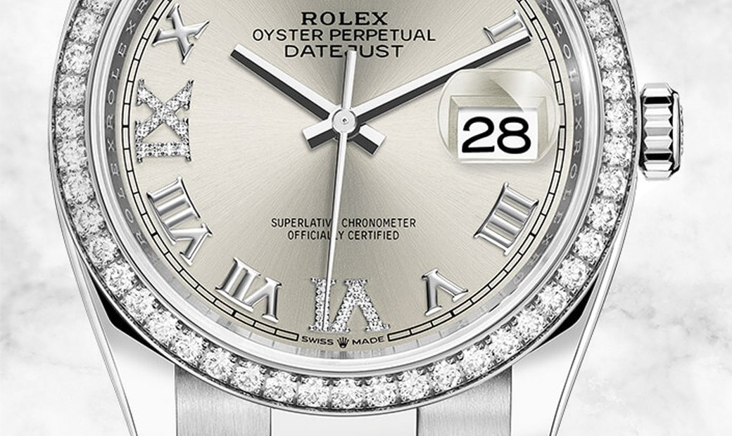 Rolex Datejust 36 126284RBR-0022 White Rolesor Diamond Set Bezel and Silver Dial Oyster Bracelet