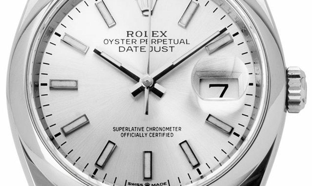 Rolex Datejust 126200, Baton, 2020, Very Good, Case material Steel, Bracelet material: