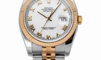 Rolex Datejust 116233, Roman Numerals, 2007, Very Good, Case material Steel, Bracelet m