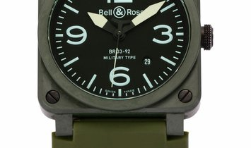 Bell and Ross BR03-92 BR03-92, Arabic Numerals, 2011, Very Good, Case material Ceramic,