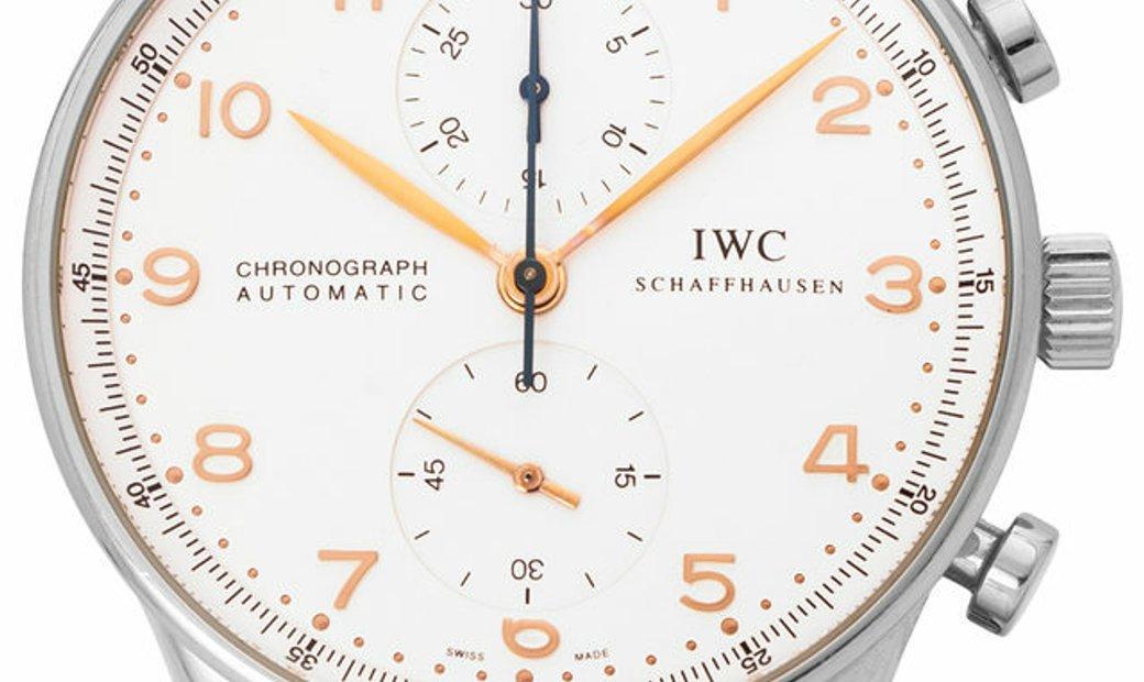 IWC Portugieser Chronograph IW371401, Arabic Numerals, 2004, Good, Case material Steel,