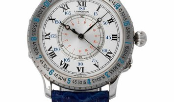 Longines Lindbergh Hour Angle 628.5240, Roman Numerals, 1997, Very Good, Case material
