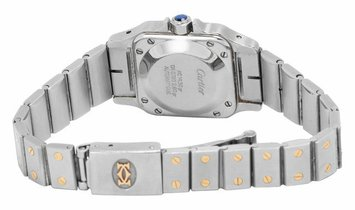Cartier Santos Automatic , Roman Numerals, 2006, Used, Case material Steel, Bracelet ma
