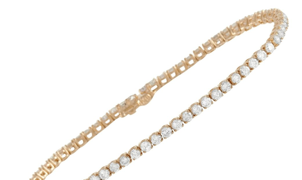LB Exclusive LB Exclusive 14K Yellow Gold 4.00 ct Diamond Tennis Bracelet