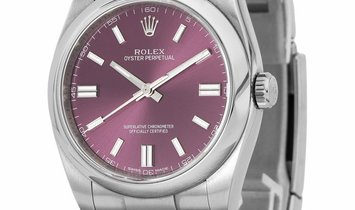 Rolex Oyster Perpetual 116000, Baton, 2017, Very Good, Case material Steel, Bracelet ma