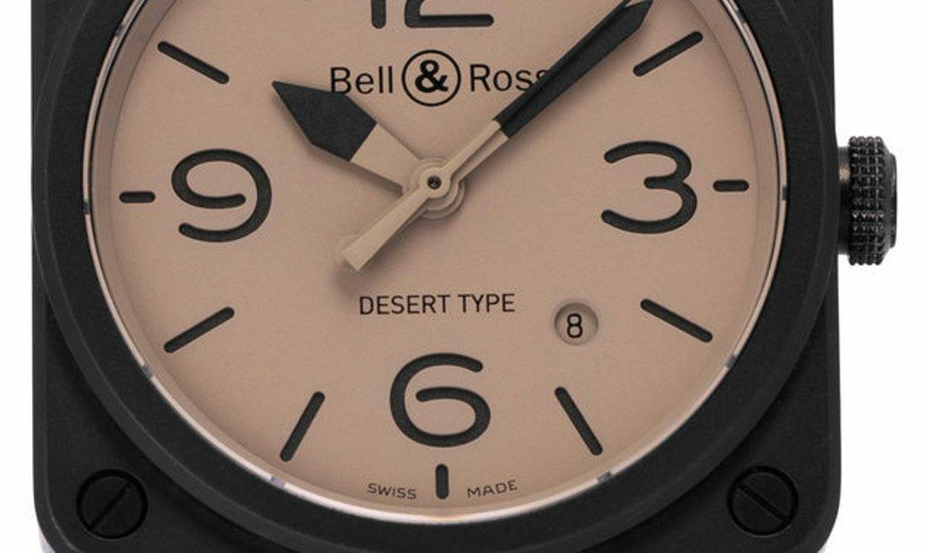 Bell and Ross BR03-92 BR0392-DESERT-CE, Baton, 2017, Good, Case material Ceramic, Brace