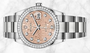 Rolex Datejust 36 126284RBR-0016 White Rolesor Pink Jubilee Diamond Set Dial and Bezel