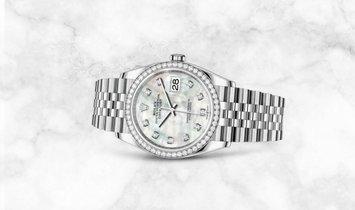 Rolex Datejust 36 126284RBR-0011 White Rolesor Diamond Set White MOP Dial Diamond Bezel