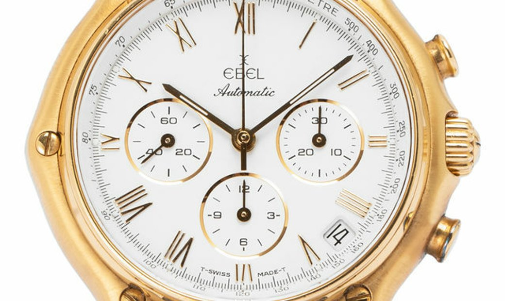 Ebel 1911 Chronograph 8134901, Roman Numerals, 1995, Very Good, Case material Yellow Go