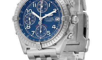 Breitling Chronomat Blackbird A13350, Arabic Numerals, 2007, Good, Case material Steel,