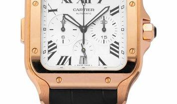 Cartier Santos De Cartier WGSA0017, Roman Numerals, 2019, Very Good, Case material Rose