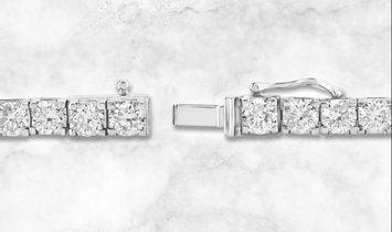 "14k White Gold 7"" Single Row Diamond Bracelet"
