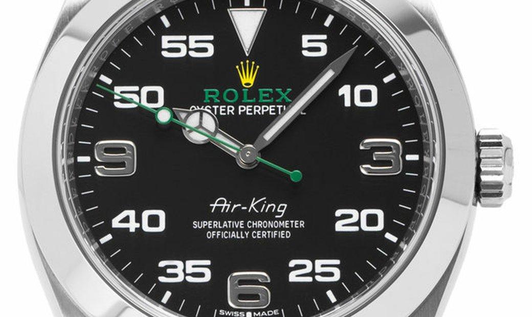 Rolex Air-King 116900, Arabic Numerals, 2020, Unworn, Case material Steel, Bracelet mat