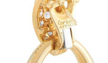 Cartier Cartier 18K Yellow Gold 1.00 ct Diamond and Onyx Door-Knocker Interchangeable Earrings