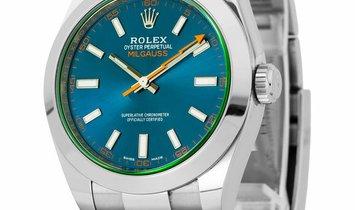 Rolex Milgauss 116400GV, Baton, 2018, Very Good, Case material Steel, Bracelet material