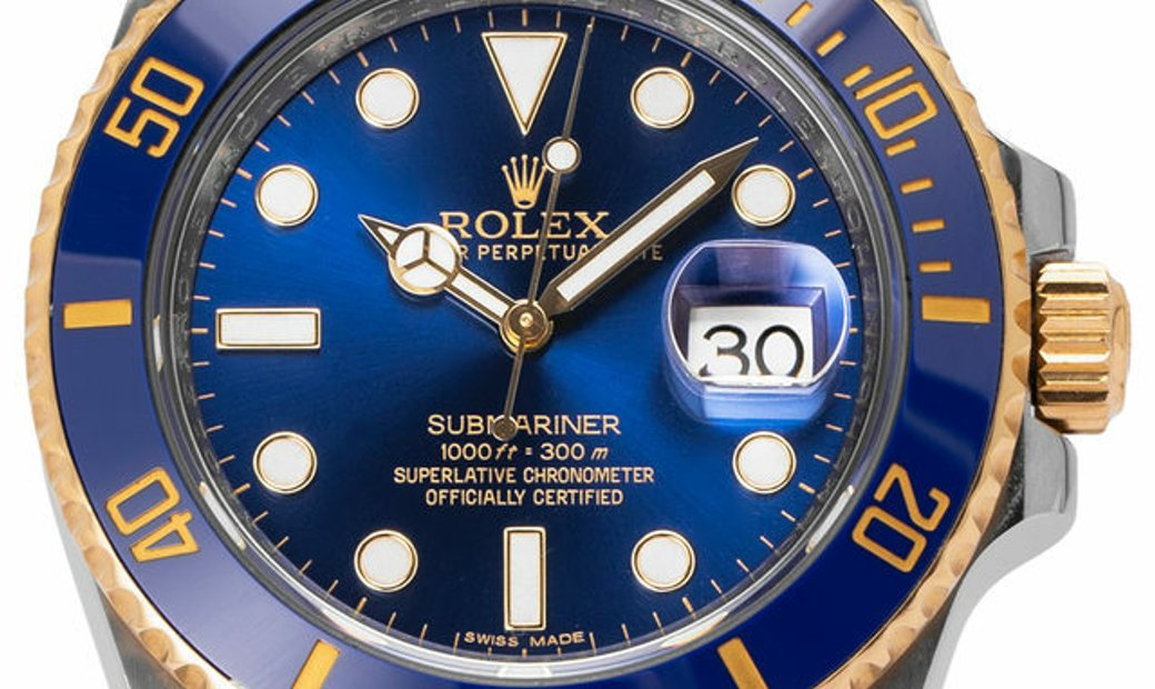 Rolex Submariner 116613LB, Baton, 2014, Very Good, Case material Steel, Bracelet materi