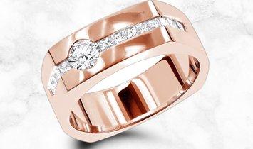 14K Gold Mens Diamond Anniversary Wedding Ring