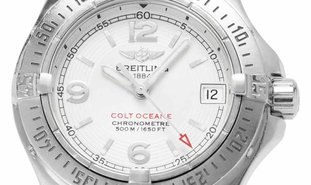 Breitling Colt Oceane A77380, Arabic Numerals, 2008, Good, Case material Steel, Bracele
