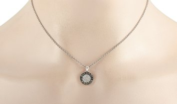 Bvlgari Bvlgari 18K White Gold 0.25 ct Diamond Pendant Necklace