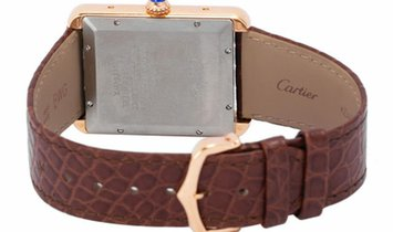 Cartier Tank Solo W5200026, Roman Numerals, 2020, Very Good, Case material Rose Gold, B