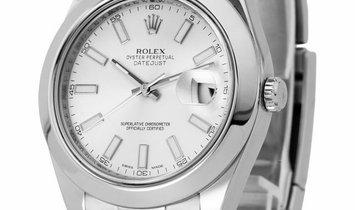 Rolex Datejust II 116300, Baton, 2013, Very Good, Case material Steel, Bracelet materia