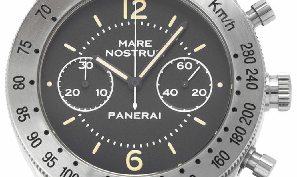 Panerai Pre Vendome Mare Nostrum 5218-301/A, Baton, 1993, Very Good, Case material Stee