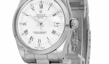 Rolex Oyster Perpetual Date 15000, Roman Numerals, 1988, Good, Case material Steel, Bra