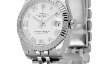 Rolex Lady-Datejust 178274, Roman Numerals, 2017, Very Good, Case material Steel, Brace