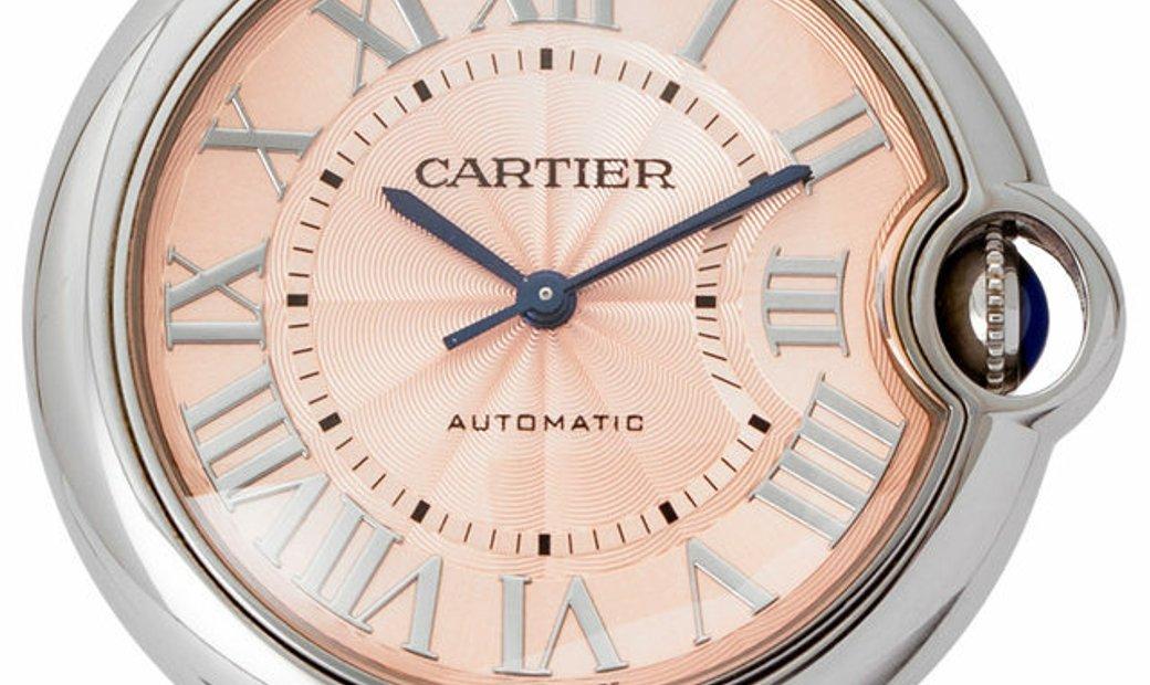 Cartier Ballon Bleu WSBB0007, Roman Numerals, 2016, Very Good, Case material Steel, Bra