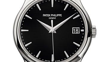 PATEK PHILIPPE CALATRAVA BLACK DIAL WHITE GOLD MEN'S WATCH Ref. 5227G-010