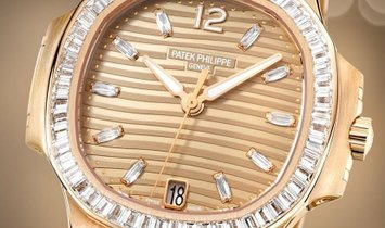 PATEK PHILIPPE NAUTILUS 7014/1R-001 ROSE GOLD LADIES WATCH