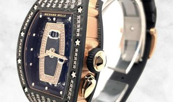 Richard Mille RM 037 Black Carbon Rose Gold Diamond Set