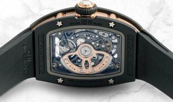 Richard Mille RM 07-01 Black Ceramic Red Gold  Diamond Bezel  Diamond Set Black Onyx Dial