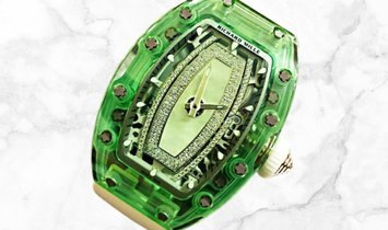Richard Mille RM 07-02 Green Sapphire White Gold with Diamond and Nephrite Centre