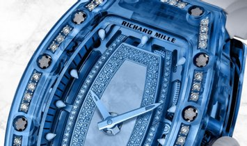 Richard Mille RM 07-02 Blue Sapphire White Gold with Mother-Of-Pearl Diamond Centre
