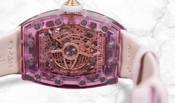 Richard Mille RM 07-02 Pink Lady Sapphire Red Gold Smokey Mother of Pearl and Diamond Centre