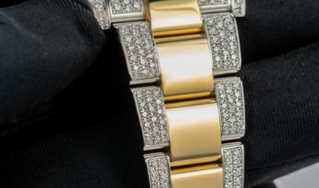 Rolex Datejust 41 126333 Bespoke Oystersteel and Yellow Gold Diamond Set