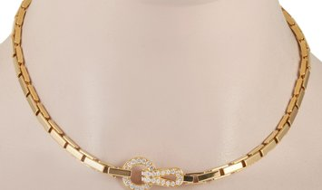 Cartier Cartier Agrafe 18K Yellow Gold Diamond Choker Necklace