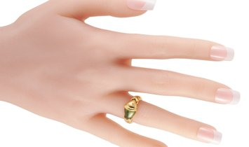 Bvlgari Bvlgari 18K Yellow Gold Peridot Ring